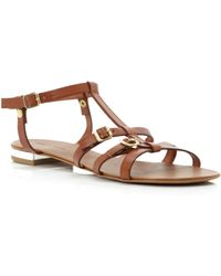 Pied a Terre | Laxmi Tbar Ankle Tie Sandals | Lyst
