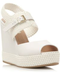 Pied A Terre Litzy Woven Wedge with Buckle - Lyst