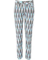 Sea Trimmed Slim Jean  - Multicolour