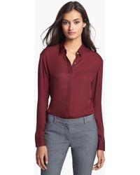 Theory Driya Silk Shirt - Lyst