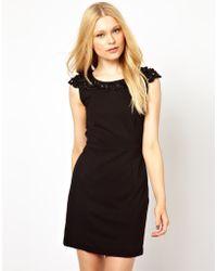 Darling Embellished Shift Dress - Lyst