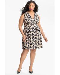 Eliza J Bird Print Sleeveless Dress - Lyst