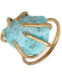 Five And Two - Turquoise Chunk Prong Ring - Lyst