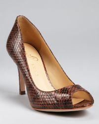 Ivanka Trump Court Shoes Cleas Open Toe - Brown