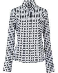 Jil Sander Navy Long Sleeve Shirt - Gray