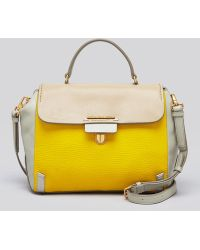 Marc By Marc Jacobs Satchel Sheltered Island Colorblocked Top Handle - Yellow
