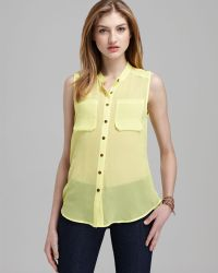 Plenty by Tracy Reese - Quotation Shirt Silk Georgette - Lyst