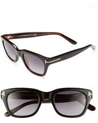 Tom Ford 'Snowdon' 50Mm Sunglasses - Shiny Black - Lyst