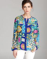 Trina Turk Shirt Abstract Printed Silk - Multicolour