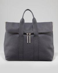 3.1 Phillip Lim 31hour Foldover Pebbled Tote Bag Black - Lyst