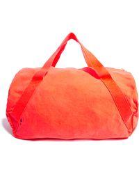 American Apparel Denim Duffle Gym Bag - Orange