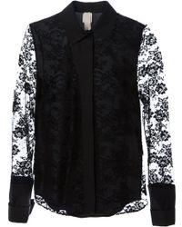 Anne Valerie Hash - Lea Lace Shirt - Lyst