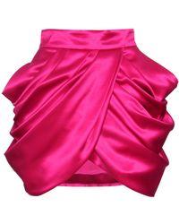 Balmain Wool and Silk Miniskirt pink - Lyst