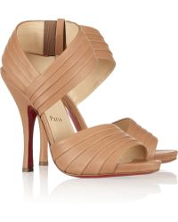 Christian Louboutin Pour Lili 120 Pleated Leather Sandals - Lyst