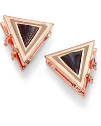 Eddie Borgo Agate Collar Tip Clips - Pink