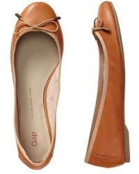 Gap Classic Leather Ballet Flats - Lyst