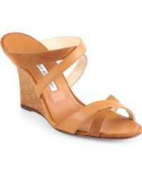 Varchi Leather Wedge Sandals Suede Strappy Brown wOnPk80