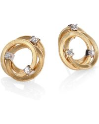 Marco Bicego Goa Diamond & 18K Yellow Gold Earrings - Lyst