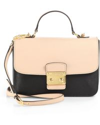 Miu Miu Two-Tone Leather Shoulder Bag - Lyst