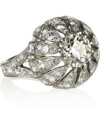 Olivia Collings 18karat White Gold Platinum and Diamond Ring - Metallic