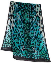 Roberto Cavalli Animal Print Silk Scarf - Lyst