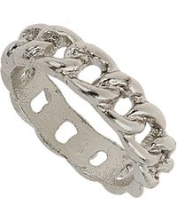 TOPSHOP - Curb Chain Midi Ring - Lyst