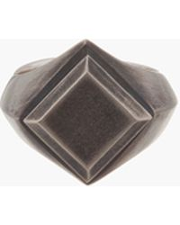 Ann Demeulemeester - Tarnished Silver Square Signet Ring - Lyst