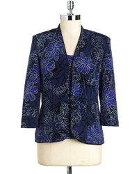 Marina - Twopiece Embellished Jacket and Shell Set - Lyst