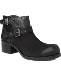 McQ by Alexander McQueen Military Leather Ankle Boots - Lyst