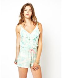 Pepe Jeans Printed Playsuit - White