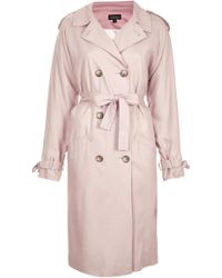 Topshop Soft Drape Trench - Lyst