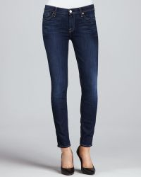 7 For All Mankind The Skinny Cropped Jeans - Lyst