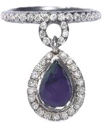 Armenta New World Drop Ring - Purple