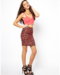 Boutique by Jaeger - Asos Pencil Skirt in Animal Print - Lyst