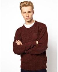 Ben Sherman  Crew Neck Sweater - Red