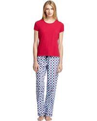Brooks Brothers - Sleep Top Printed Pant Pyjamas - Lyst