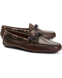 Brooks Brothers Pebble Leather Driving Mocs - Lyst