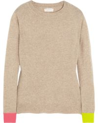 Chinti & Parker Contrast Cuff Cashmere Sweater - Lyst