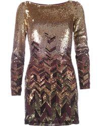 Matthew Williamson Bead Embellished Mini Dress - Lyst