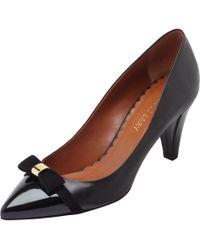 Mulberry Bow Mid Heel Pump - Black