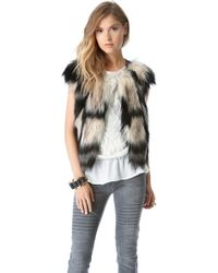 Twelfth Street Cynthia Vincent - Faux Fur Vest - Lyst