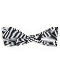 3.1 Phillip Lim - Stripe Print Bandeau Bikini Top - Lyst