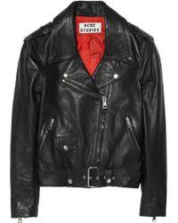 Acne Studios Mape Leather Biker Jacket - Lyst