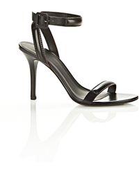Alexander Wang Antonia Ankle Strap Sandal Black Refined Baby Calf - Lyst