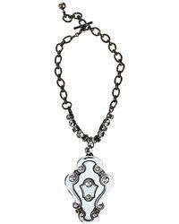 Lanvin - Large Crystal Collier Pendant Necklace - Lyst