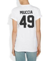 LPD New York - Team Miuccia Printed Cotton-jersey T-shirt - Lyst