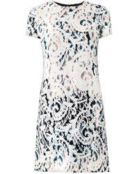 McQ by Alexander McQueen Laceprint Paisley Jacquard Dress - Lyst