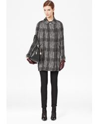 French Connection Penelope Pop Checked Coat - Lyst