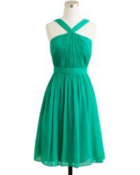 J.Crew Sinclair Dress in Silk Chiffon - Lyst