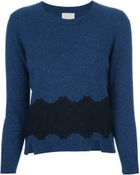 Theyskens' Theory Lace Detail Sweater - Lyst